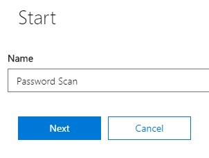 Office 365 - Password - Launch Attack - Start